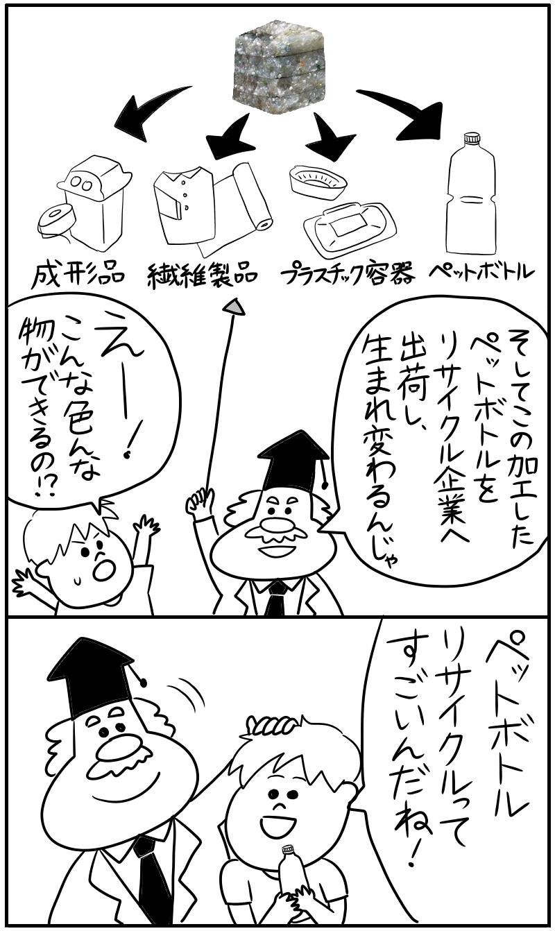 ペットボトルリサイクルの漫画を描きました_f0346353_03181017.png