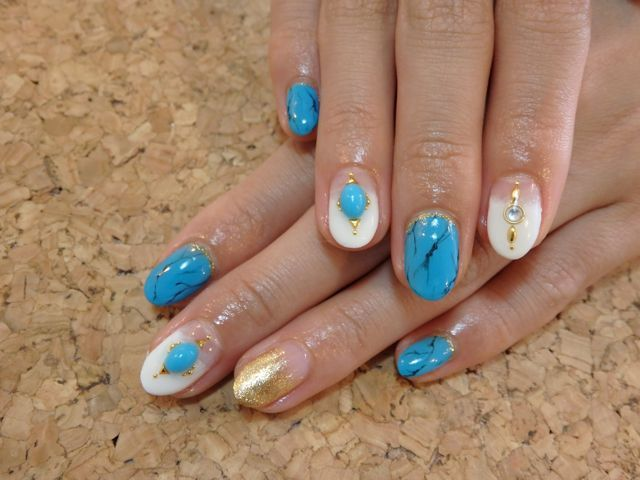 Turquoise Nail_a0239065_17161423.jpg