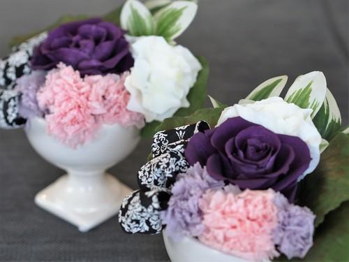 【仏花】お仏壇サイズに合わせたアレンジメントを_d0144095_2126184.jpg