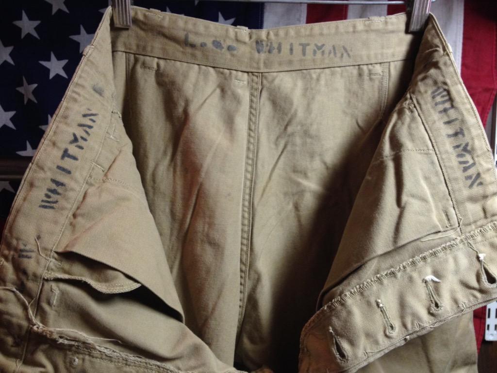 神戸店6/25(土)ヴィンテージ入荷!#3 30\'s U.S.M.C.  Metal Button Chino Trousers!!!(T.W.神戸店)_c0078587_21354660.jpg