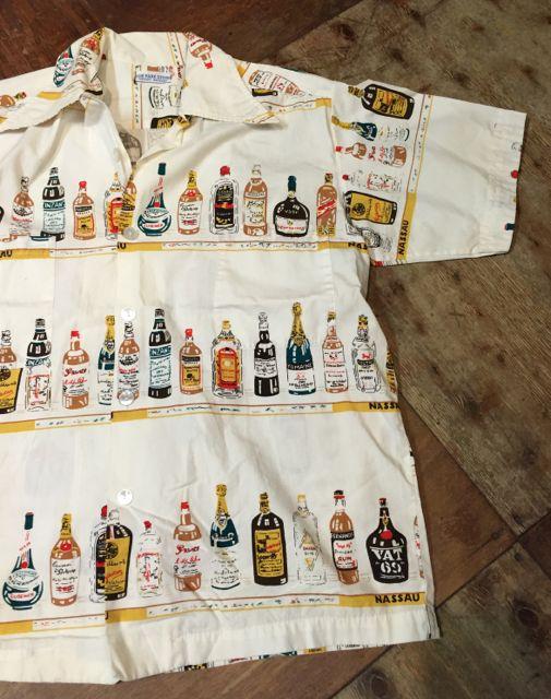 6月25日(土)入荷!60s all cotton ! ボトル柄 シャツ!!_c0144020_1557218.jpg