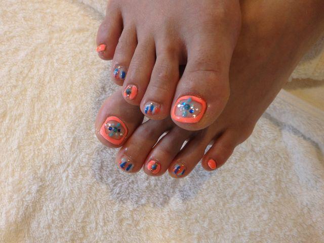 Orange Foot Nail_a0239065_13201660.jpg