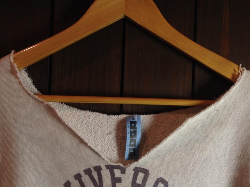 神戸店6/25(土)ヴィンテージ入荷!#4 1950\'s Fron V Print Sweat,Champion!!!(T.W.神戸店)_c0078587_16245687.jpg