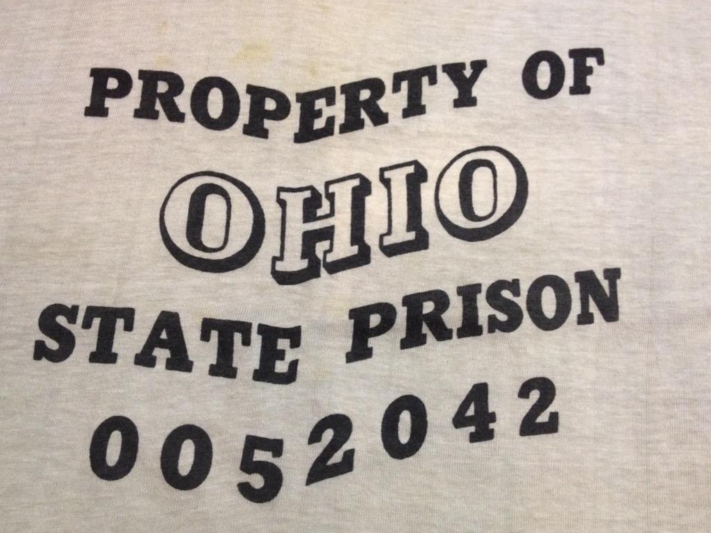 神戸店6/25(土)ヴィンテージ入荷!#5  1970\'s  Ohio State Prison Ringer T,Vintage Tee!!!(T.W.神戸店)_c0078587_22235432.jpg