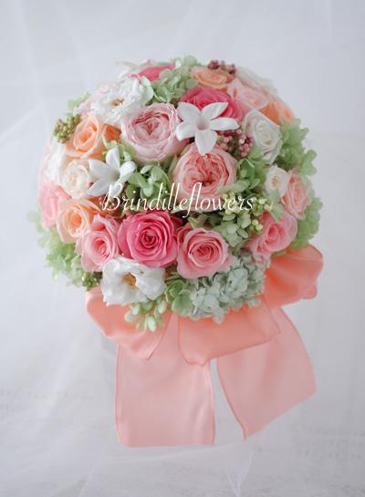 ロマンティックなプリザーブドフラワーのウエディングブーケ@京都_b0138802_0445066.jpg