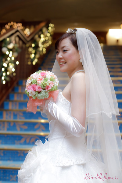 ロマンティックなプリザーブドフラワーのウエディングブーケ@京都_b0138802_050868.jpg
