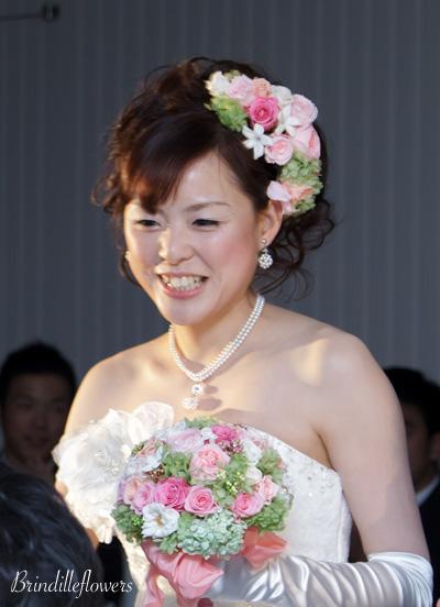ロマンティックなプリザーブドフラワーのウエディングブーケ@京都_b0138802_1105832.jpg