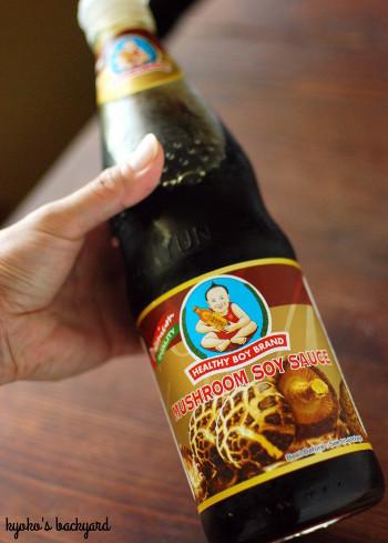 赤ピーマンと牛肉の炒め物。タイの椎茸醤油。_b0253205_08381244.jpg