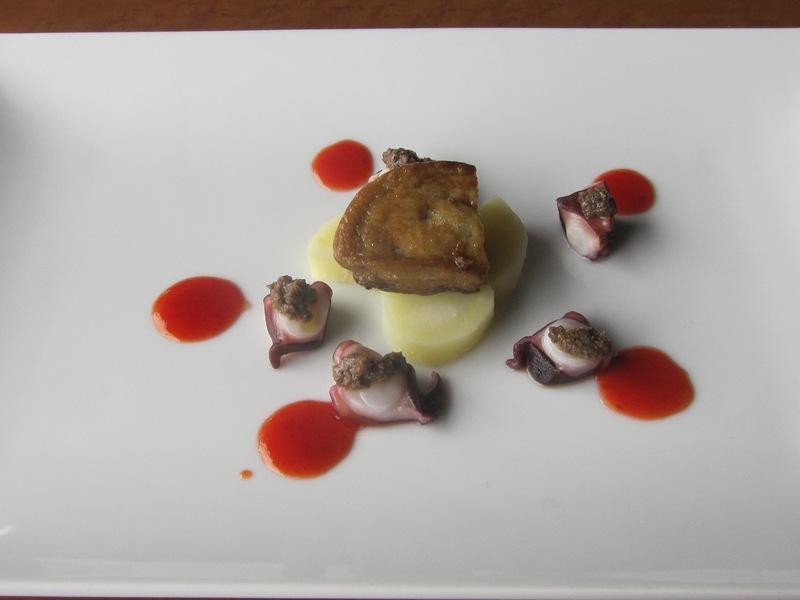 6月の料理「たこ&フォアグラ」_d0177560_20385372.jpg
