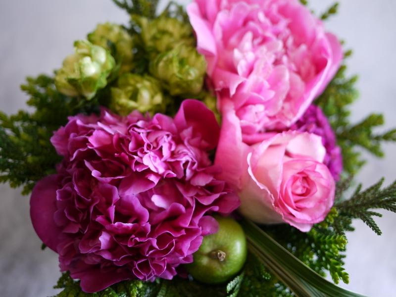 Plantation5周年記念Partyでのライブに出演される、Jazzシンガーの遠藤 雅美さんへのお花。_b0171193_19381811.jpg