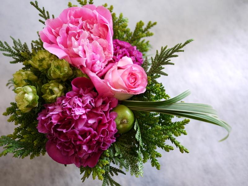Plantation5周年記念Partyでのライブに出演される、Jazzシンガーの遠藤 雅美さんへのお花。_b0171193_19385322.jpg