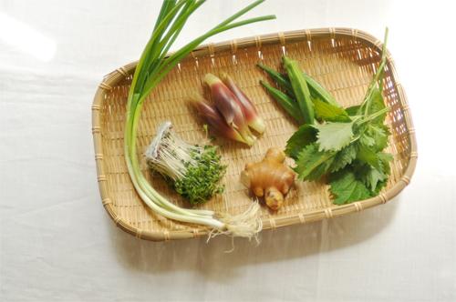 薬味もごちそう、夏の麺_d0174704_20535415.jpg