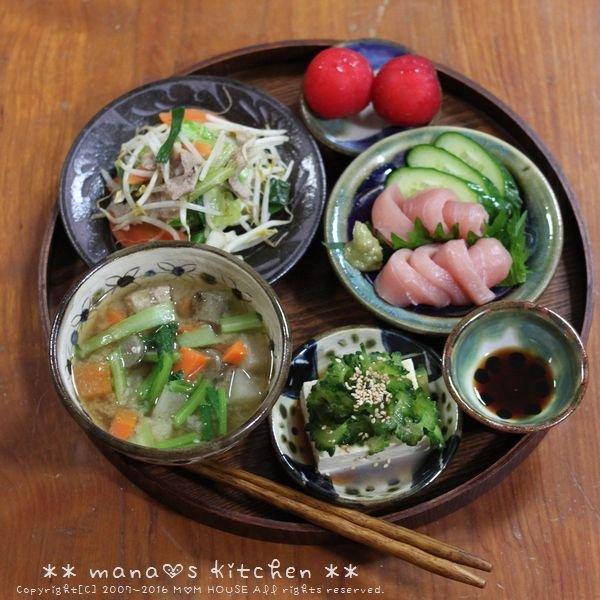 鶏のから揚げ ✿ 野菜チャンプルー etc.  _c0139375_1171069.jpg