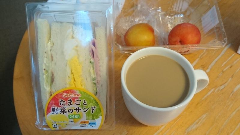 2泊目からのホテルでの朝ご飯は、サンドウィッチとお弁当です。_c0225997_15235866.jpg