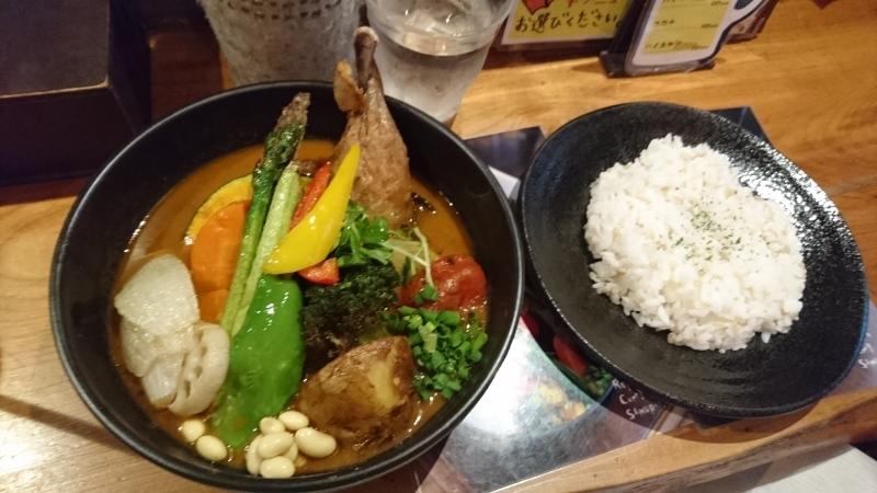 札幌と言えばやはりスープカレーです。_c0225997_16151399.jpg