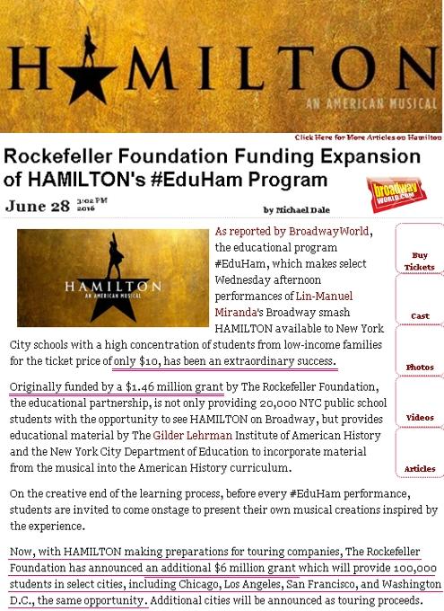 高校生は『ハミルトン』を10ドルで見れちゃう教育プログラムが、なんと全米規模に拡大へ!!! #EduHam_b0007805_23182664.jpg