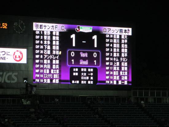 サッカー京都サンガ対熊本ロアッソ_e0048413_2341272.jpg