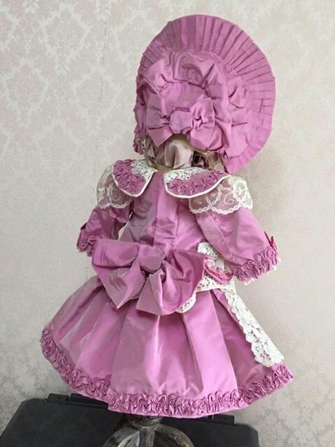 56cm アンティークドール ドレス完成しました♪_c0229423_17154182.jpeg