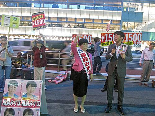 参院選4日目 新宿西口意思表示_a0188487_2135456.jpg