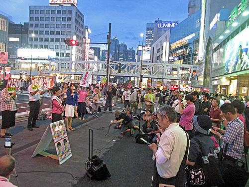 参院選4日目 新宿西口意思表示_a0188487_2135559.jpg