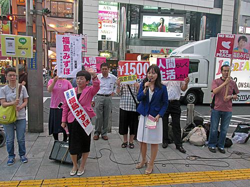 参院選4日目 新宿西口意思表示_a0188487_213598.jpg