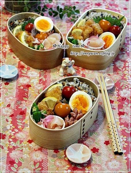 ひじき煮で混ぜご飯弁当と焦がしバターのマドレーヌ♪_f0348032_18590750.jpg