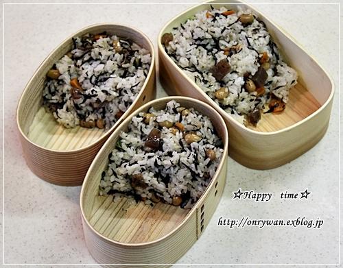ひじき煮で混ぜご飯弁当と焦がしバターのマドレーヌ♪_f0348032_18592602.jpg