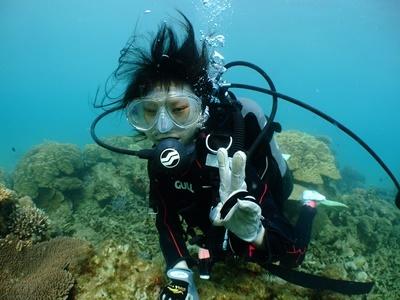 「ビーチで体験ダイビング」_b0033573_23091426.jpg