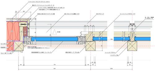 Q1モデル住宅:カーテンウォール地窓詳細図_e0054299_1031645.jpg