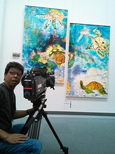 現展搬入 中京テレビさんが取材にいらっしゃいました_d0253466_18493534.jpg