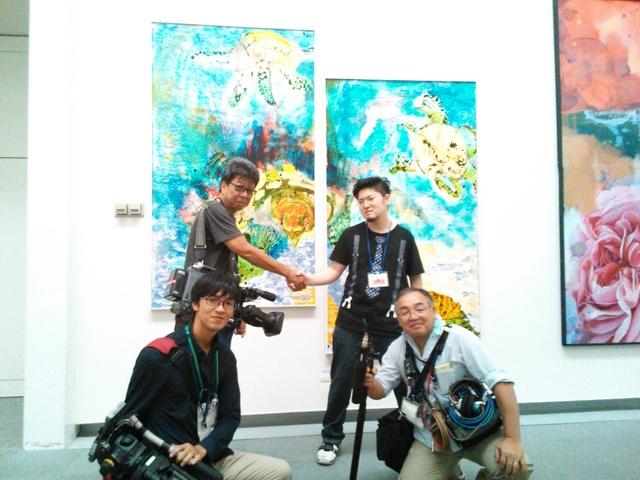 現展搬入 中京テレビさんが取材にいらっしゃいました_d0253466_1881043.jpg