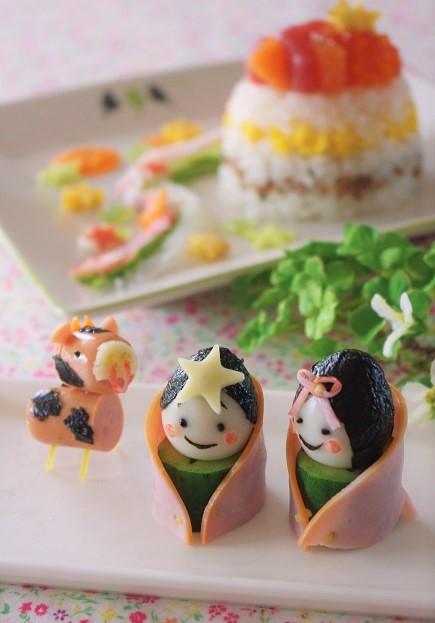 「七夕ちらし寿司」&かわいい織姫と彦星のデコごはん【レシピ付き】