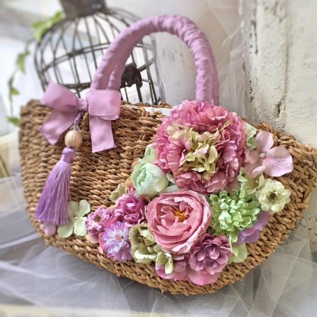 リボンかごバッグは完売です。_e0128024_04360792.jpg