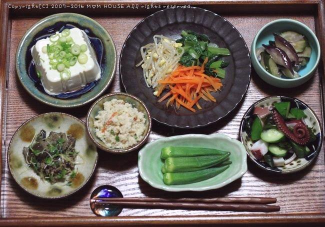 オクラの肉巻き弁 ✿ 筋トレ食事♪_c0139375_10515549.jpg