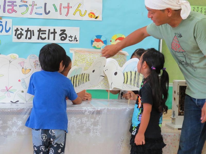 2016 幼稚園で採蜜体験_a0247891_11174462.jpg
