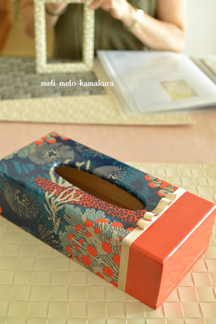 ◆【レッスンレポート】 勉強熱心なT様、大物と小物で木製製品へのデコパージュ強化!_f0251032_14501923.jpg