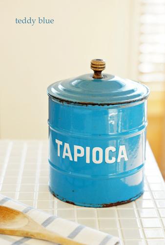 enamelware tapioca canister  アンティーク ホーロー タピオカキャニスター_e0253364_17084376.jpg