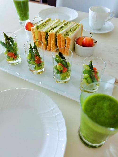 グリーンアスパラガスと枝豆、セミドライトマトのマリネ_b0145846_11251693.jpg
