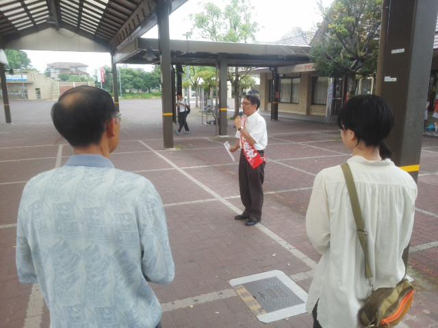 今朝は日生中央駅前からスタート*^ー^*「比例候補者カー」猪名川&川西くるくる♪まわります☆_f0061067_21451181.jpg