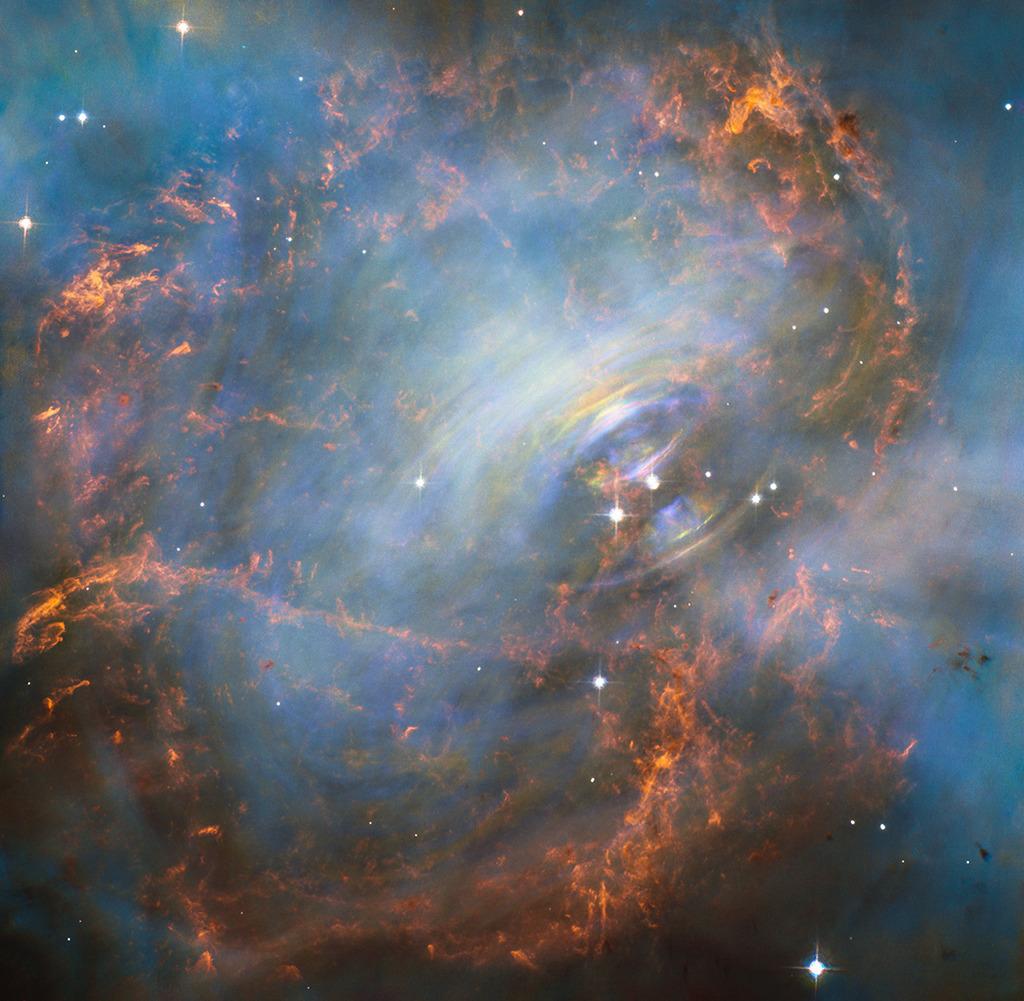 ハッブル宇宙望遠鏡が捉えたカニ星雲の中心部_d0063814_11120491.jpg