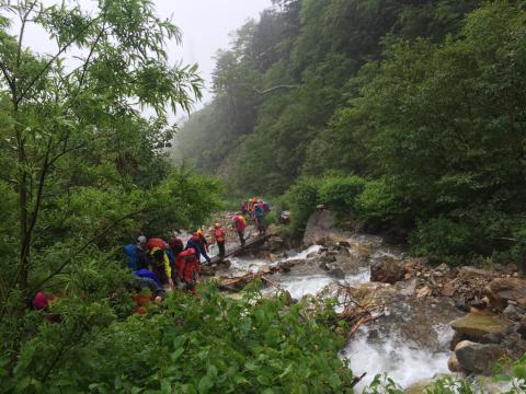 晴れて登頂の常念岳_d0110562_22425321.jpg
