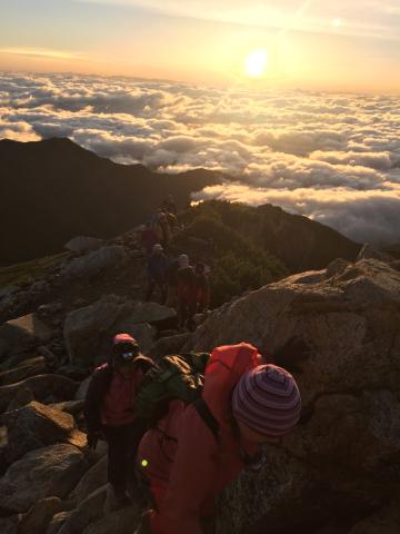 晴れて登頂の常念岳_d0110562_22425536.jpg
