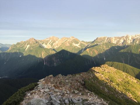 晴れて登頂の常念岳_d0110562_22425630.jpg
