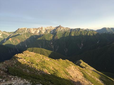 晴れて登頂の常念岳_d0110562_22425673.jpg