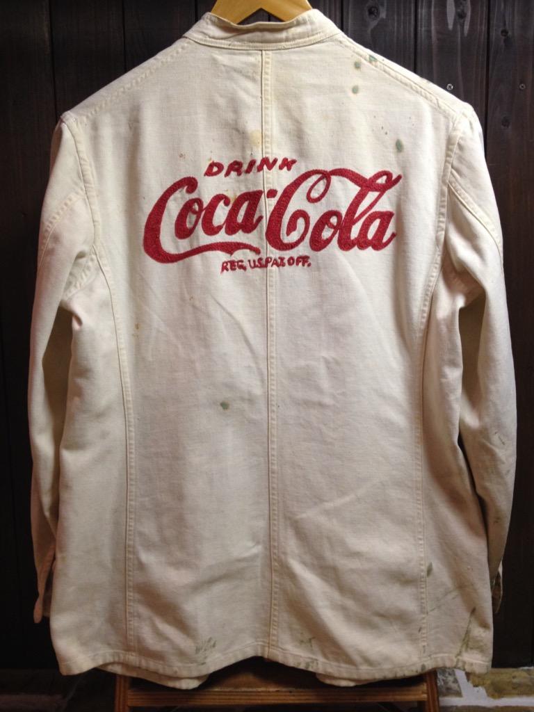 神戸店7/13(水)ヴィンテージ&スーペリア入荷!#5 1940\'s Coca-Cola Soft Work JKT!!!(T.W.神戸店)_c0078587_12403085.jpg