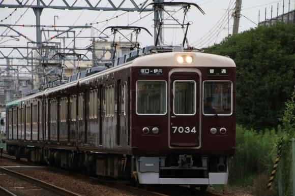 阪急伊丹線   7034F  4連デビュー_d0202264_18054022.jpg