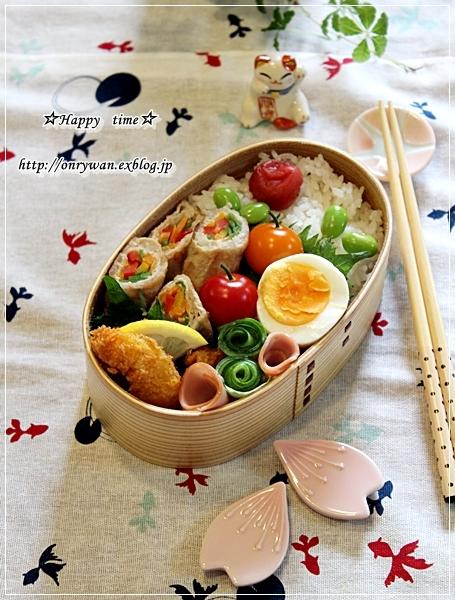 カラフル野菜で肉巻き弁当と桃酵母♪_f0348032_18243019.jpg