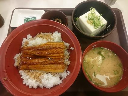 7/15 うな丼健康セット¥930+瓶ビール¥290@すき家_b0042308_11291538.jpg