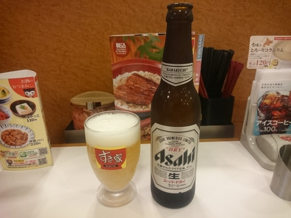 7/15 うな丼健康セット¥930+瓶ビール¥290@すき家_b0042308_11293682.jpg