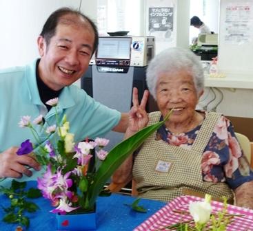 【7月の園芸療法】生け花&観葉植物_d0163307_16023742.jpg
